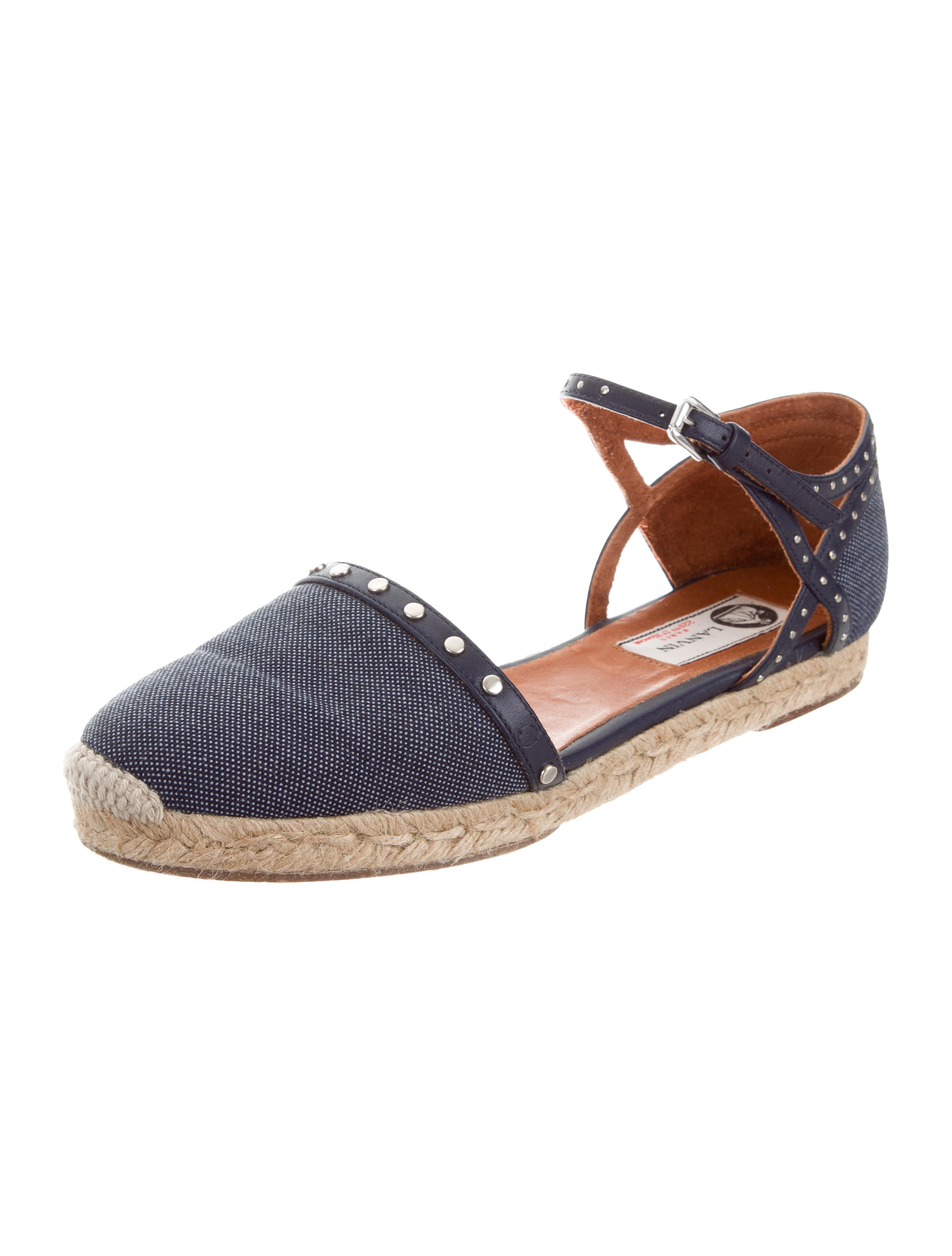 Lanvin Leather-Trimmed d'Orsay Espadrilles official site cheap price A1mNQiScCu