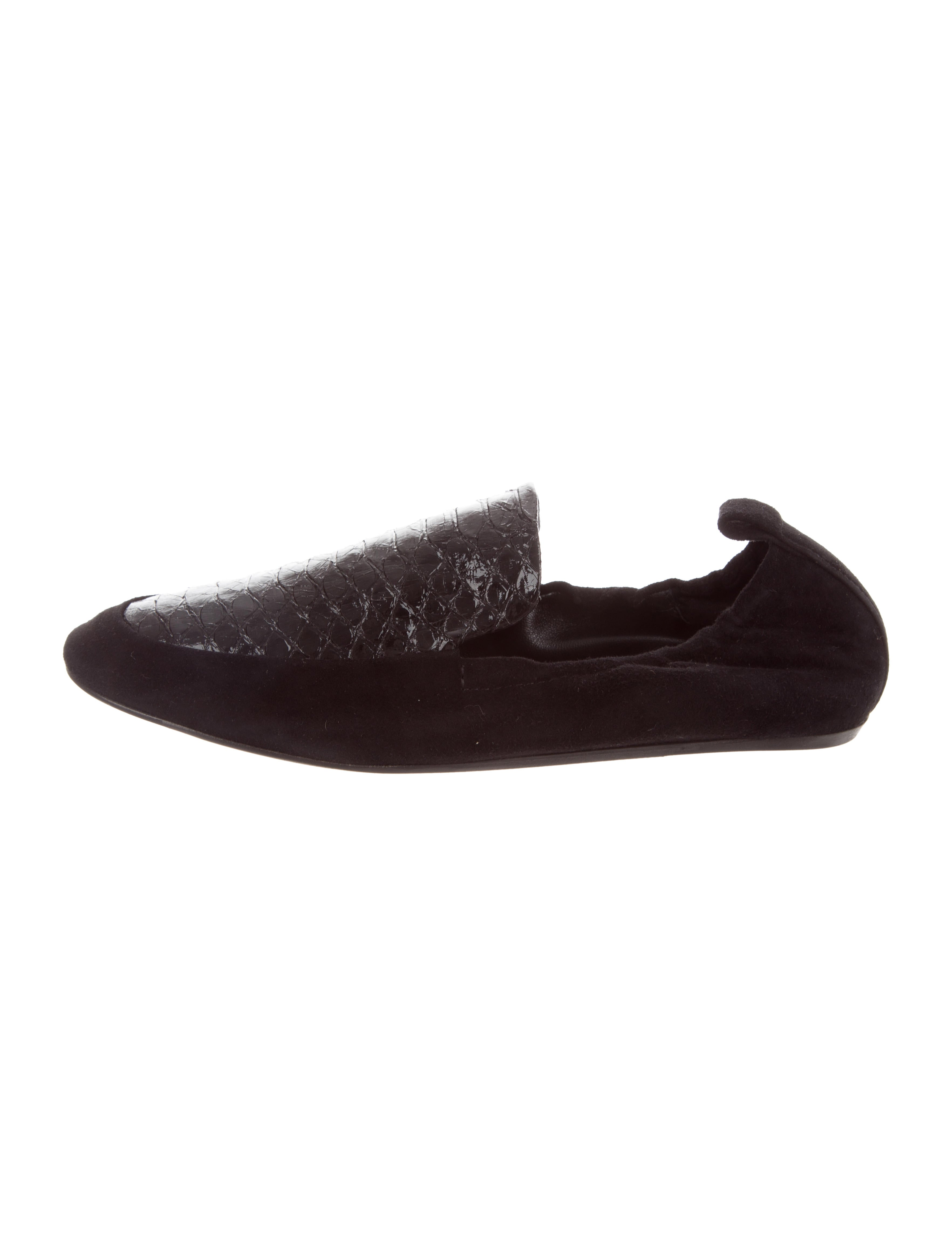 clearance cheap 100% guaranteed for sale Lanvin Suede Python Loafers w/ Tags csI29X