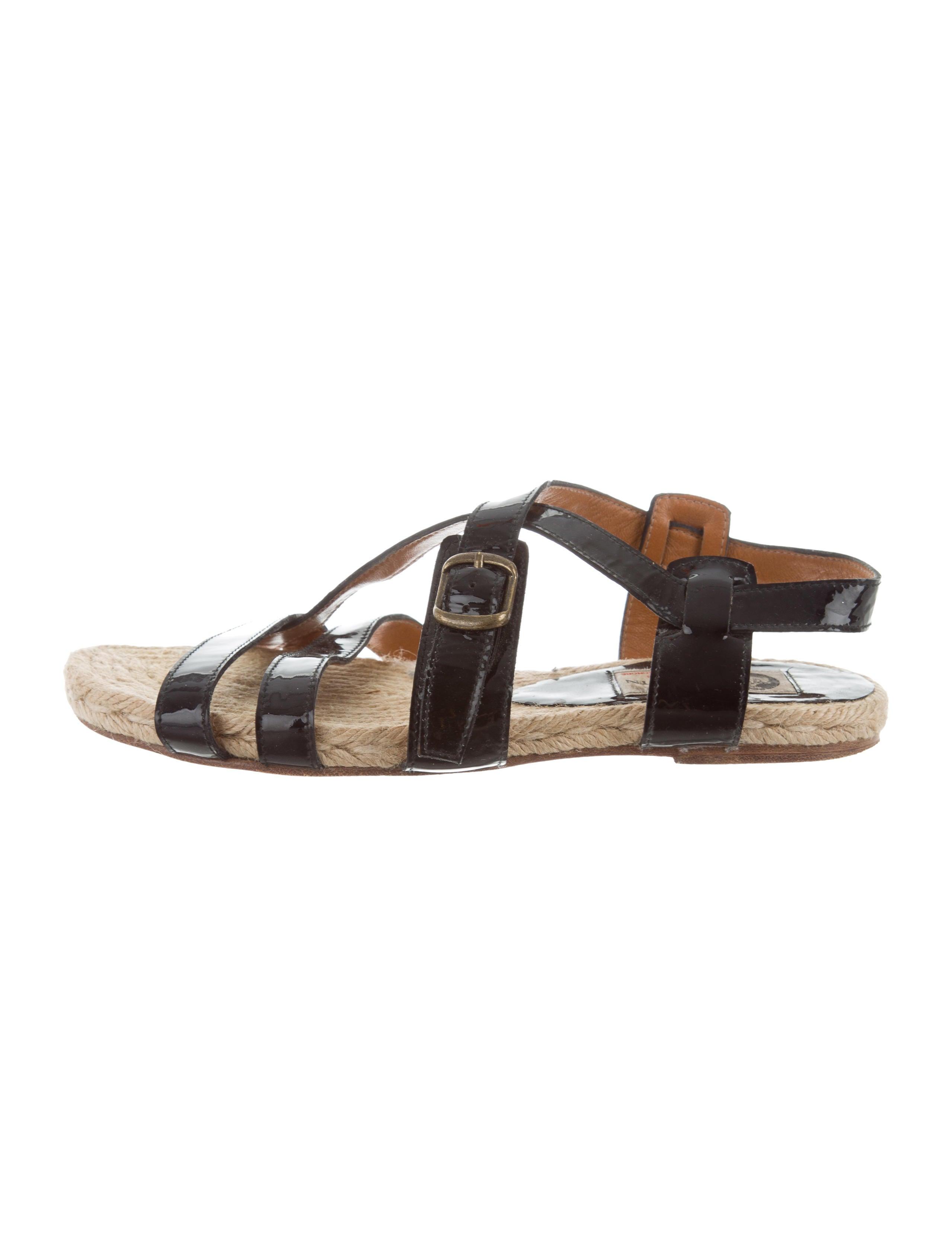 Lanvin Patent Leather Flip Flops 8gsfisA3