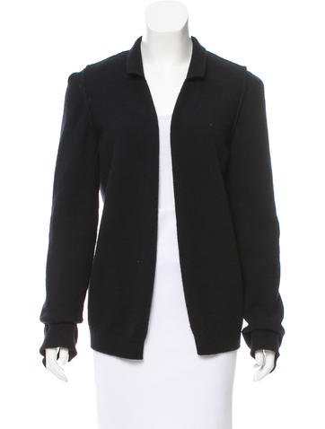 Lanvin Open Front Knit Cardigan None