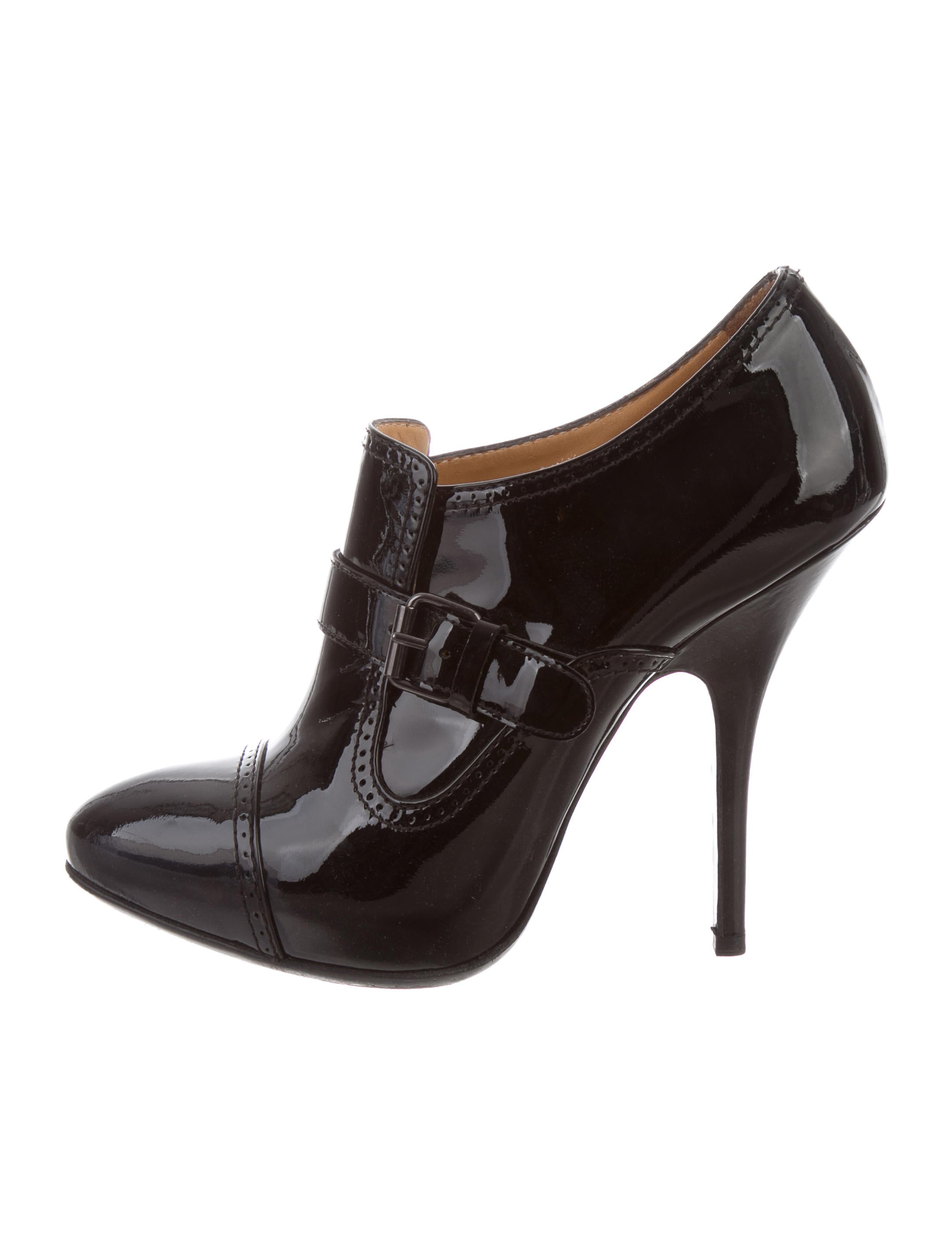 brand new unisex online Lanvin Patent Leather Buckle Booties the cheapest cheap online free shipping browse shopping online outlet sale huge surprise sale online 8rpPwu2PqW