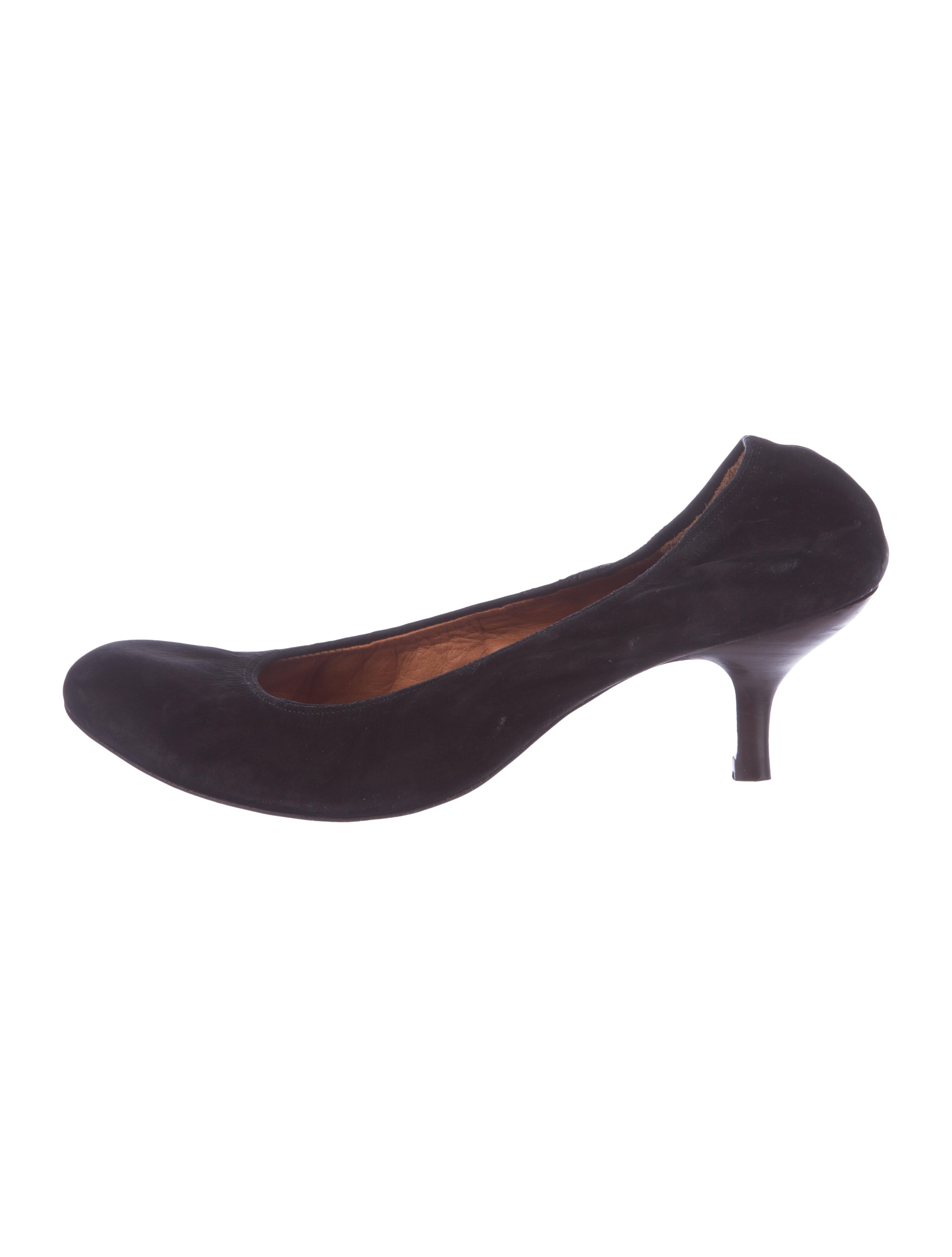 Lanvin Suede Round-Toe Pumps best deals real cheap online pcWDcUgTu
