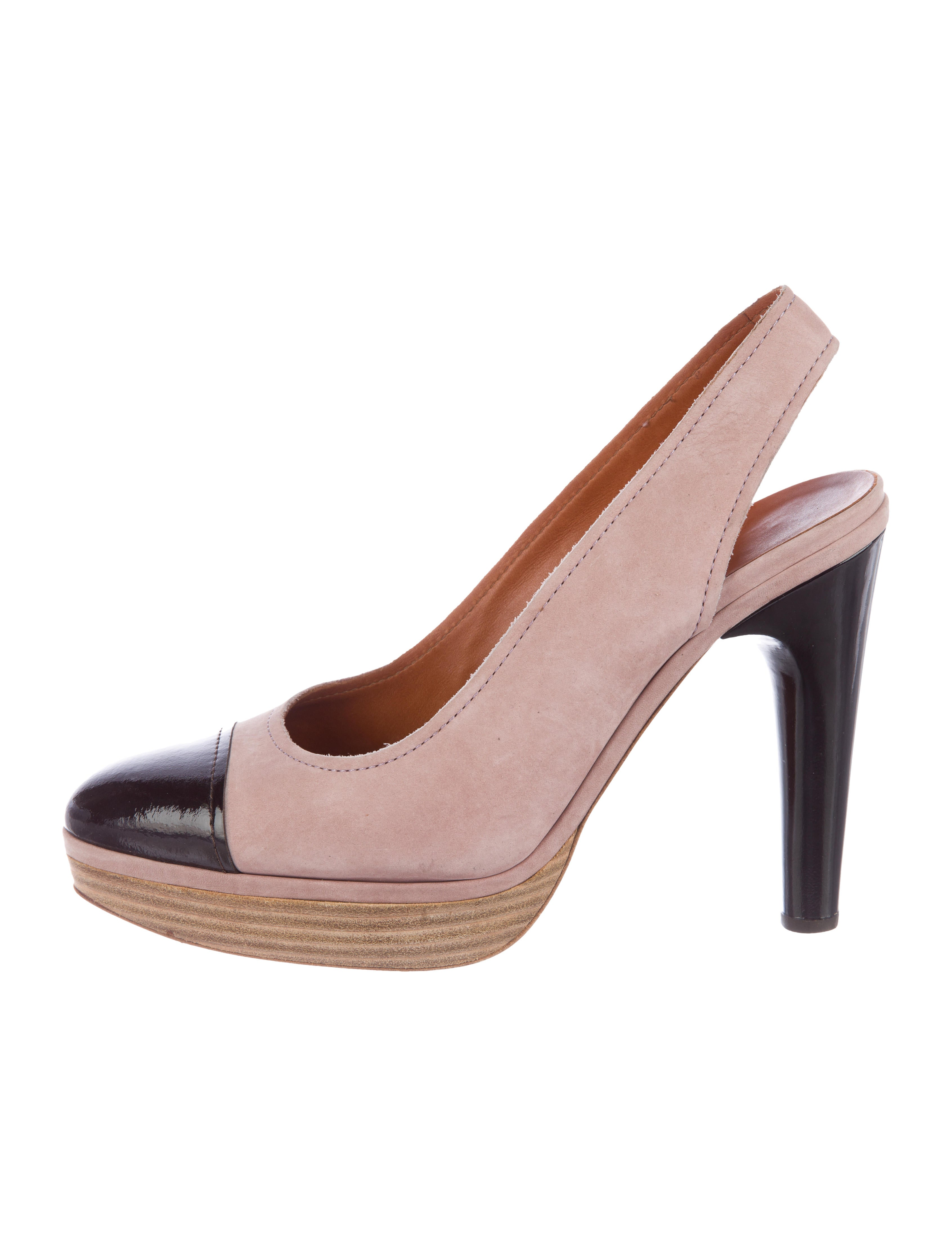 best prices for sale for cheap cheap online Lanvin Cap-Toe Slingback Pumps discount looking for sale amazon cheap buy authentic hEfDaKd9F