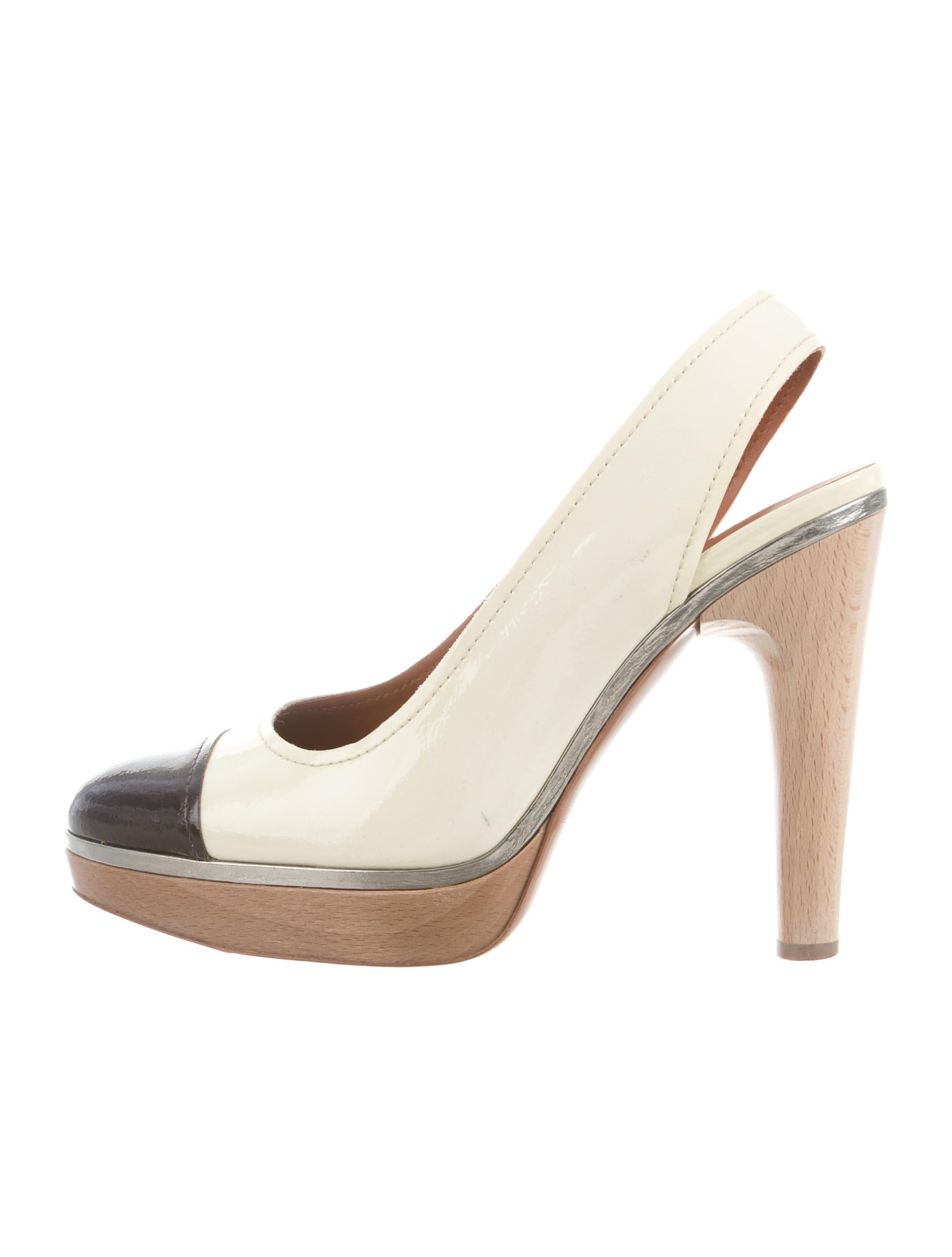 Lanvin Patent Leather Slingback Pumps outlet for nice ost release dates buy cheap pay with visa m1ZsCNbc2