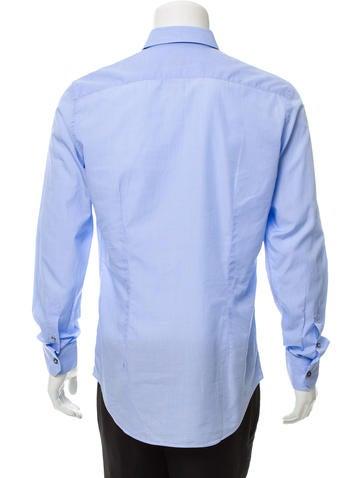 Point Collar Button-Up Shirt