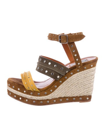 Lanvin Studded Espadrille Wedges None