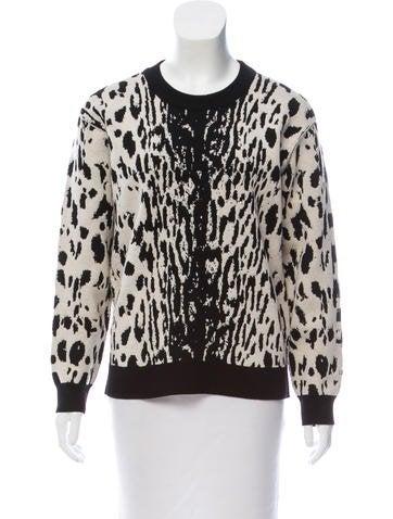 Lanvin Wool Leopard Patterned Sweater None