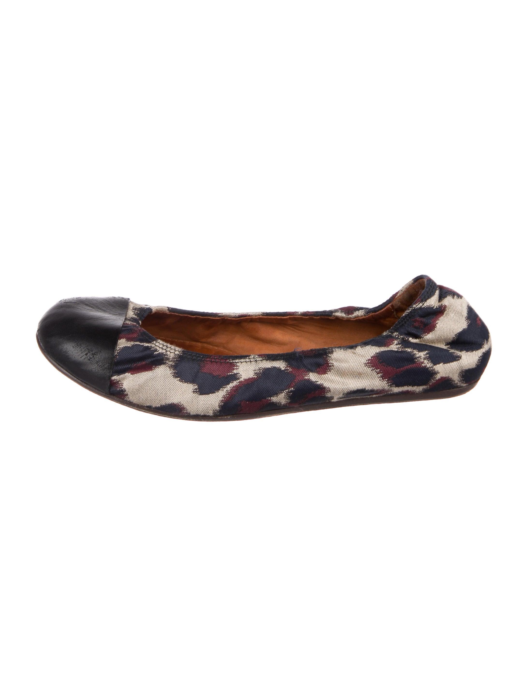 Lanvin Canvas Round-Toe Flats discount big discount outlet shop vv3Ihuq