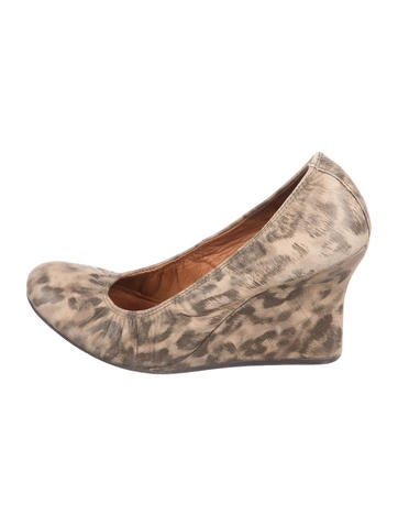 Lanvin Printed Leather Wedges None