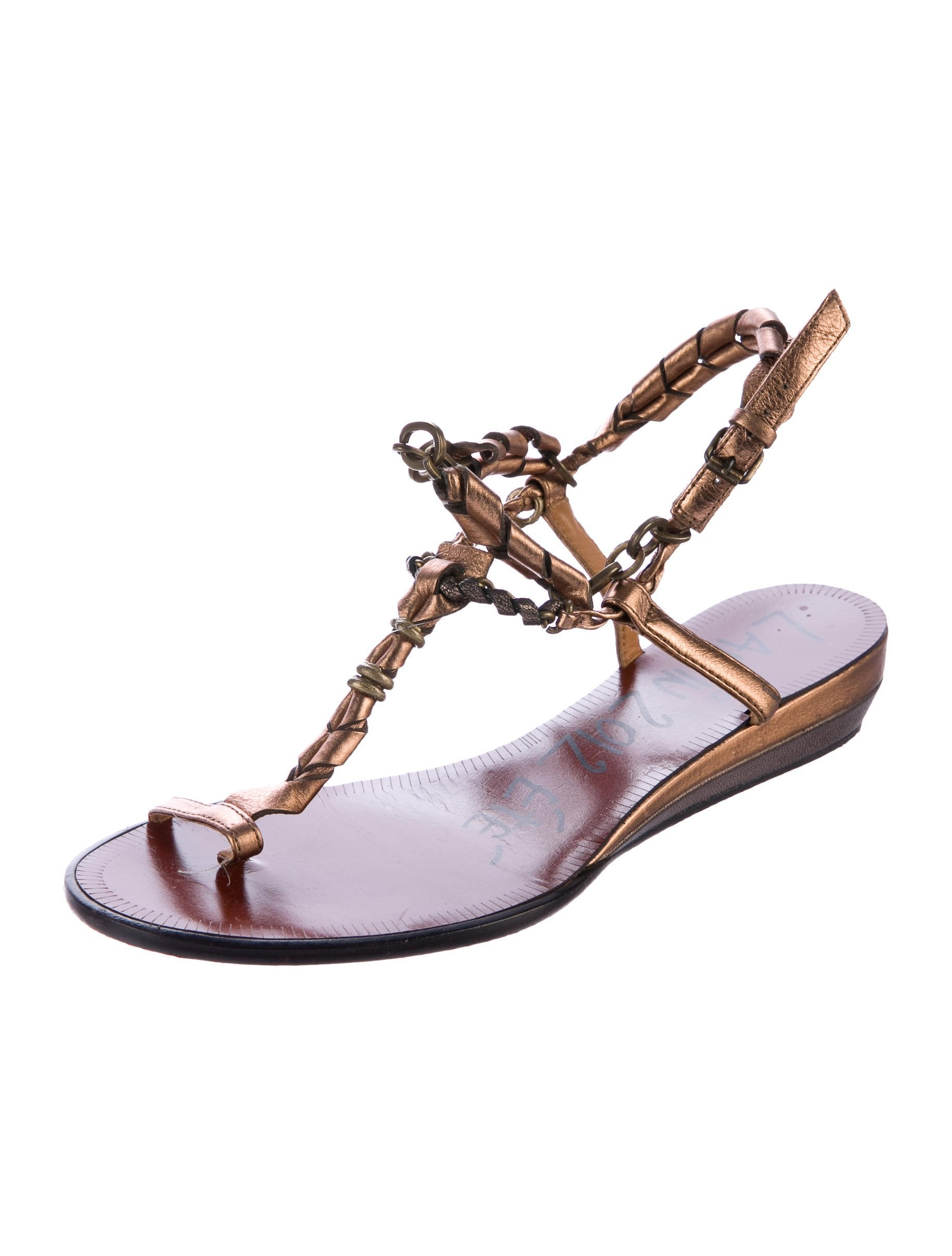 free shipping exclusive 2014 new cheap online Lanvin Chain Metallic Sandals new styles cheap online piQoLdThuX