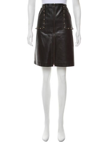 Lanvin Leather Knee Length Skirt W/ Tags by Lanvin