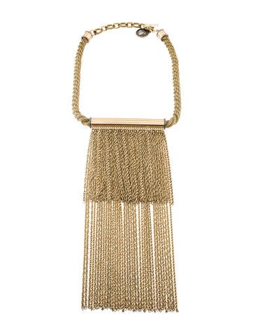 Multichain Tassel Collar Necklace