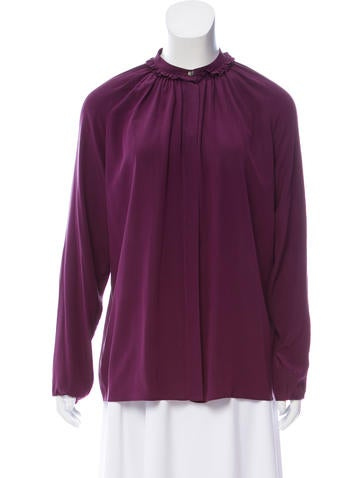 Lanvin Silk Oversize Top None
