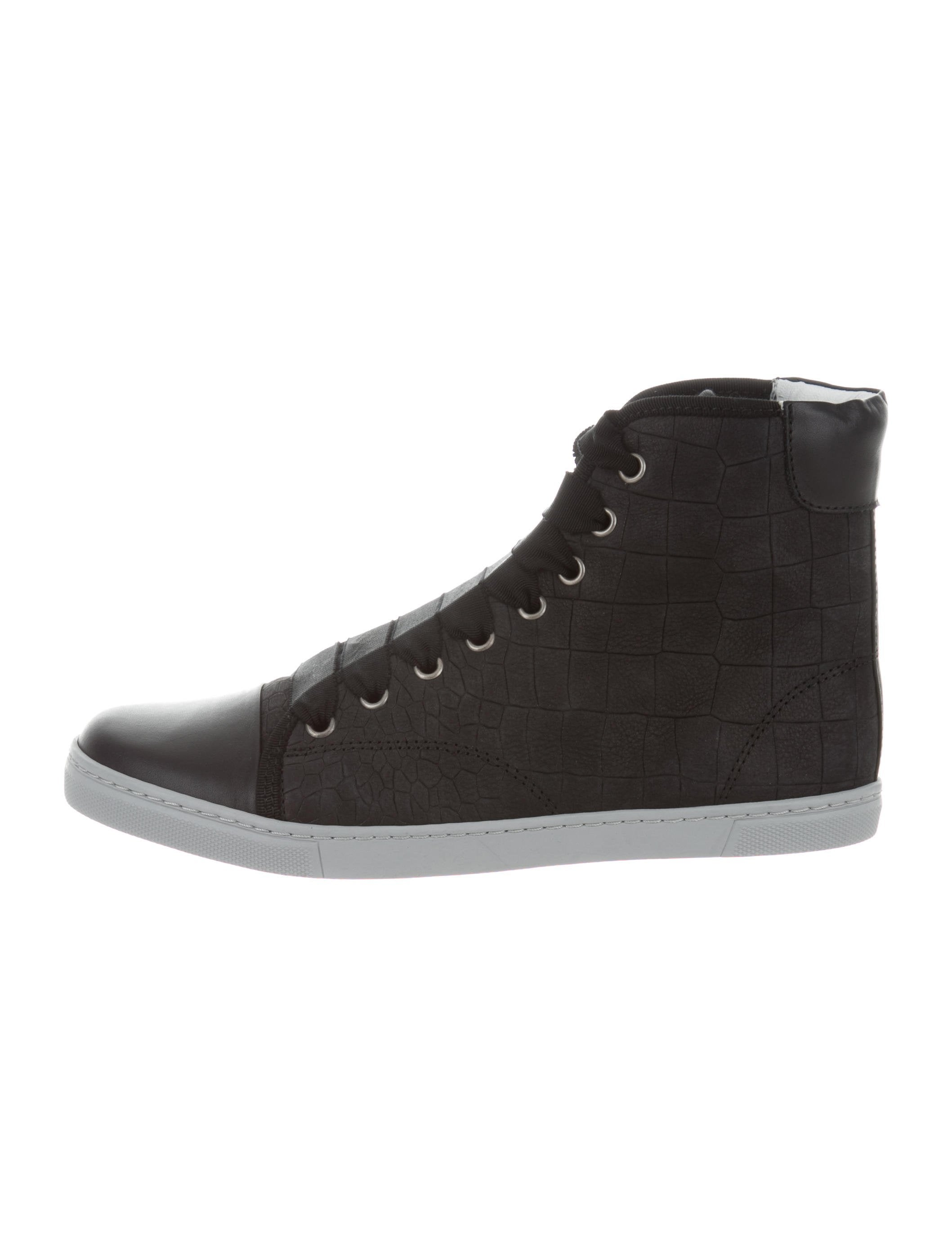 Lanvin Embossed High-Top Sneakers w/ Tags clearance in China clearance low price mEvG9j
