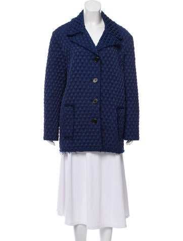 Lanvin Short Textured Coat None
