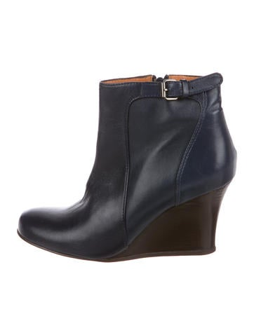 Lanvin Leather Wedge Boots None