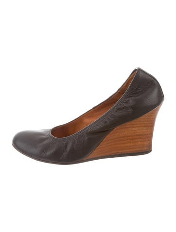 Lanvin Leather Wedge Pumps None