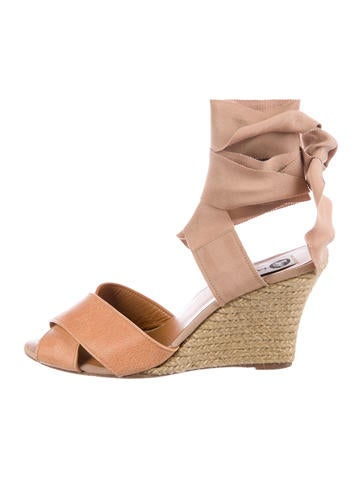 Lanvin Wrap-Around Espadrille Wedges None