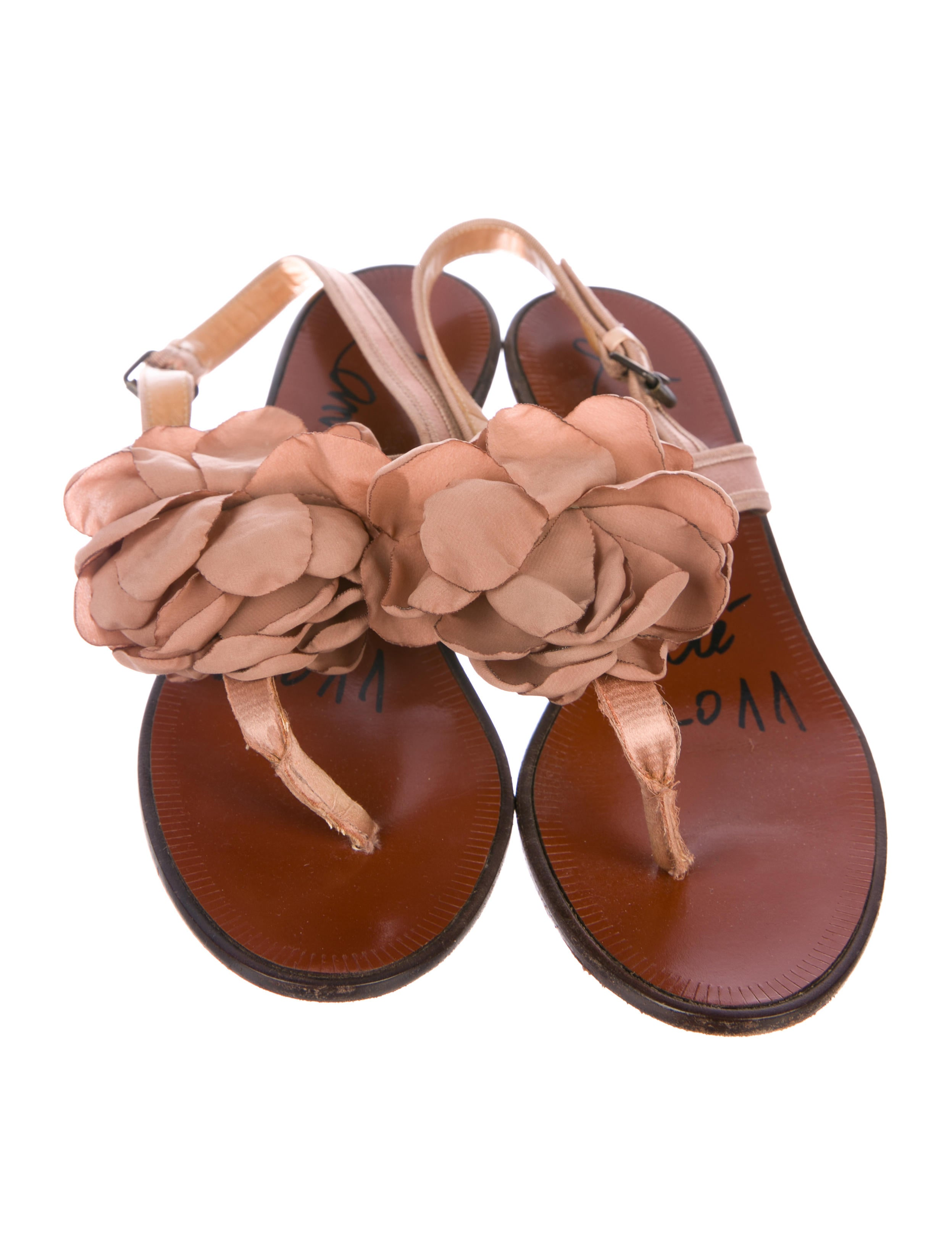 Lanvin Floral Satin Thong Sandals store pay with paypal for sale Pe0Fm