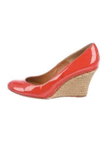 Lanvin Patent Leather Espadrille Wedges None