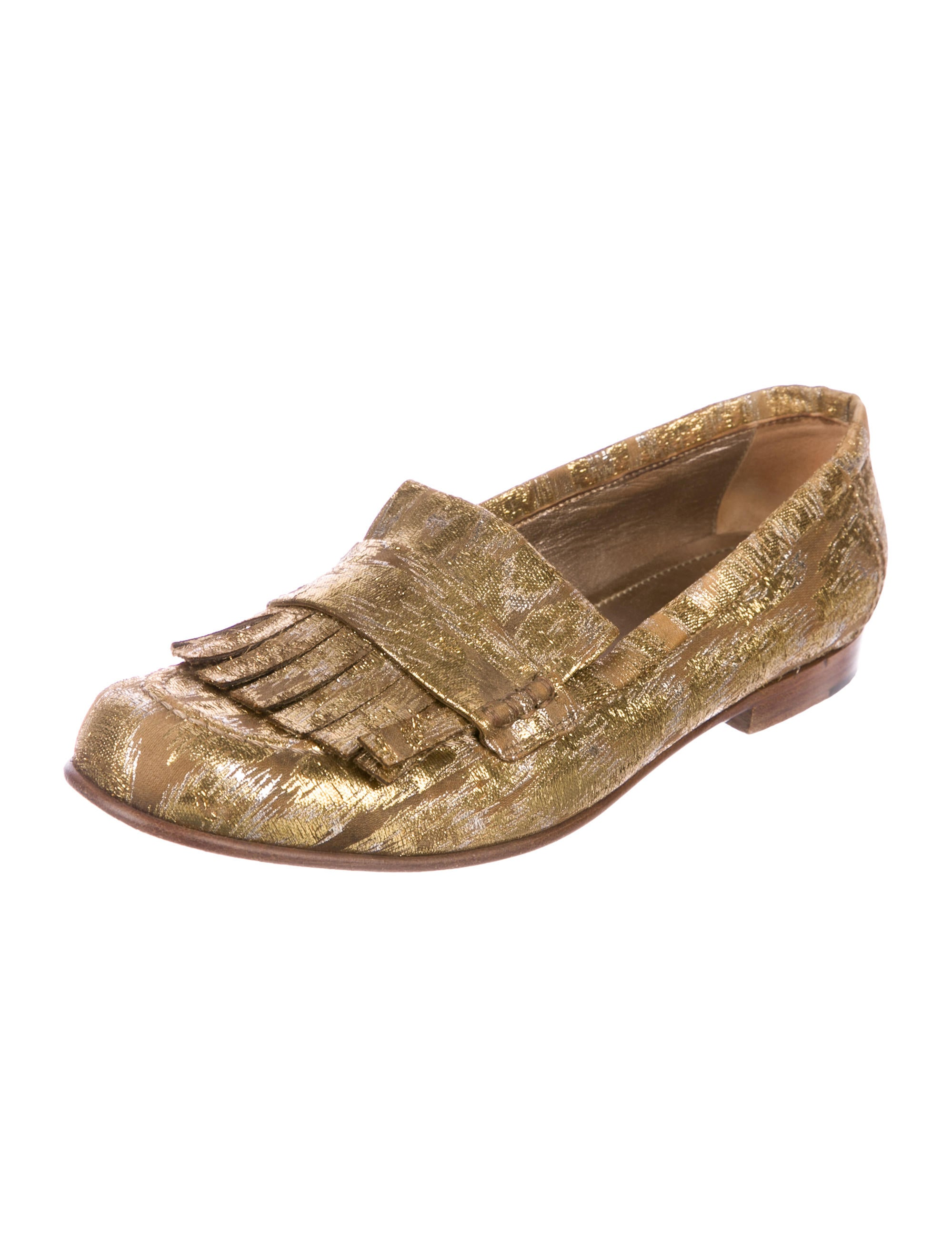 outlet sale online best place to buy Lanvin Kiltie Metallic Loafers cheap low price fee shipping lslsvvfE