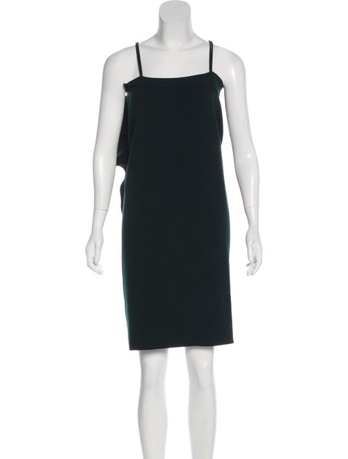 Lanvin Wool-Blend Asymmetrical Dress green