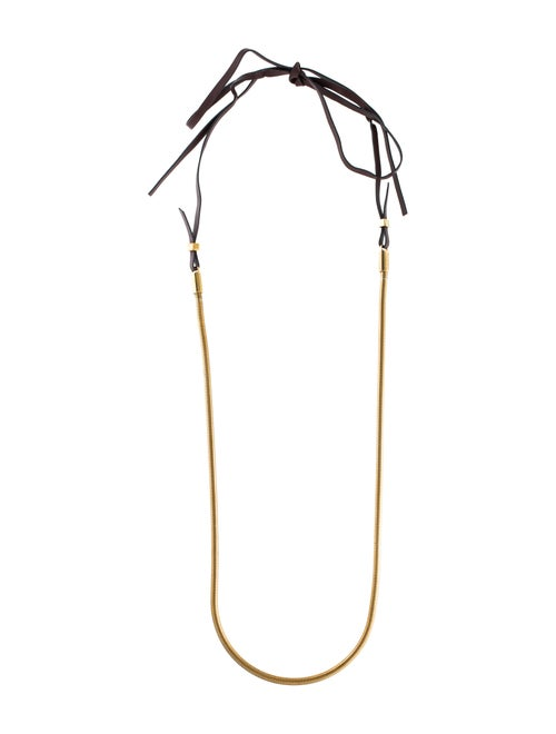 Lanvin Snake Chain Necklace Gold