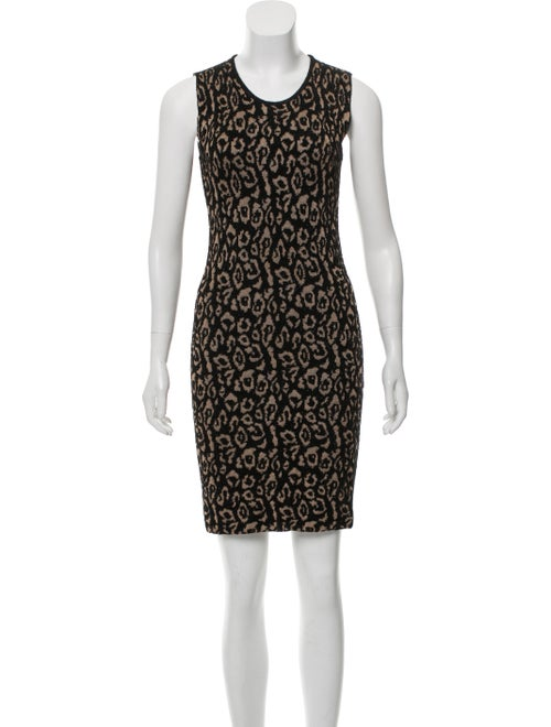 Lanvin Metallic Mini Dress Beige