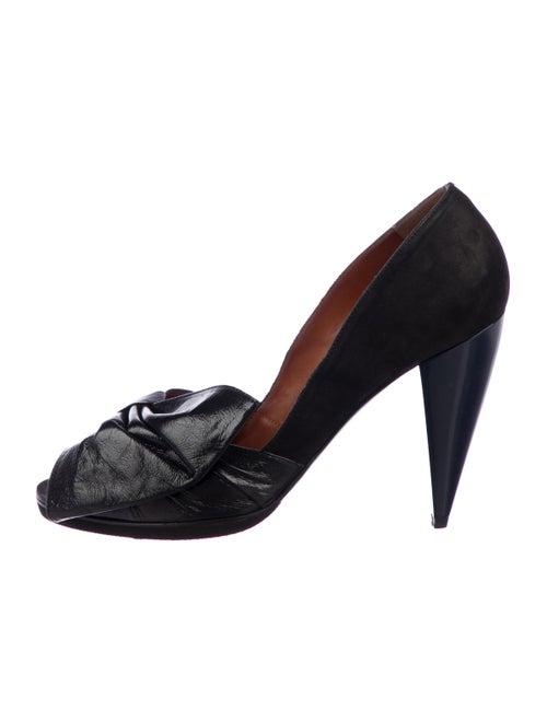 fe8394571e9 Lanvin Bow Accented Peep-Toe Pumps - Shoes - LAN96001