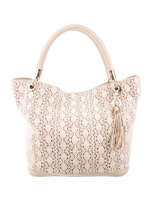 Lancel Crochet Shoulder Bag Tan