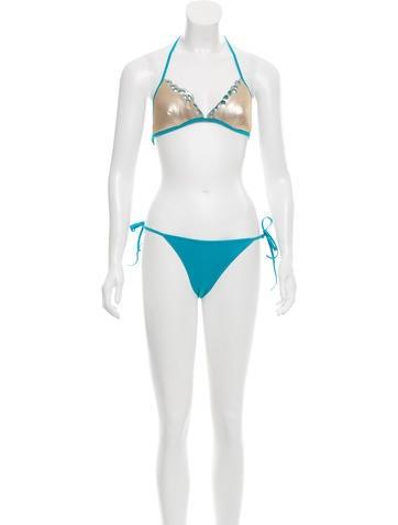 La Perla Sequined Two-Piece Swimsuit