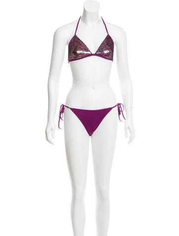 La Perla Sequined Two-Piece Swimsuit w/ Tags None