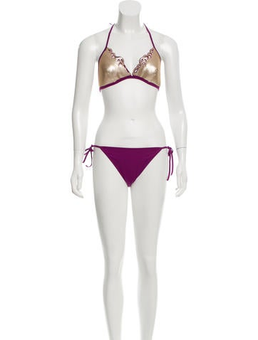 La Perla Embellished Two-Piece Swimsuit w/ Tags None