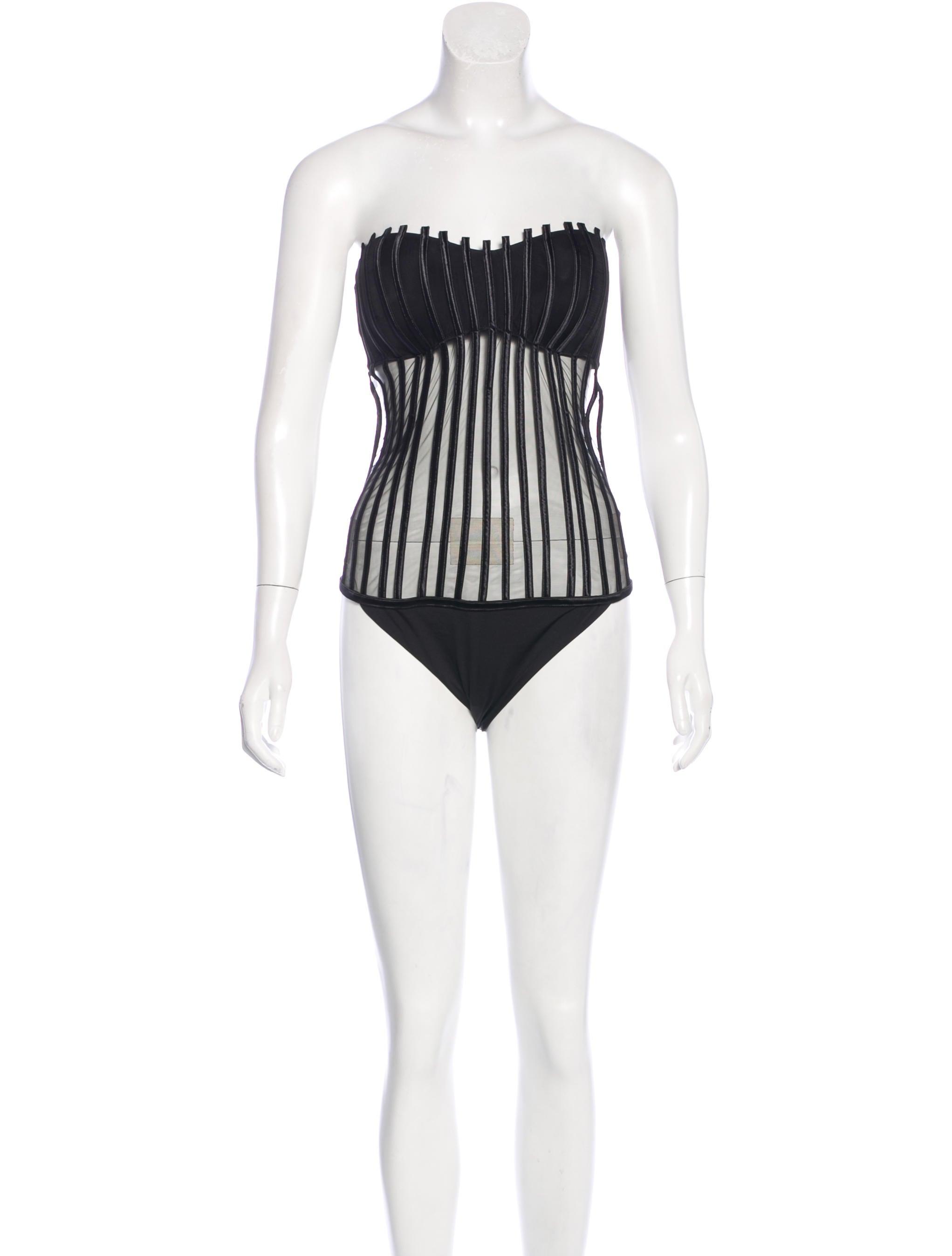 1a400bfd5529e La Perla Graphique Couture Swimsuit w/ Tags - Clothing - LAP20942 ...