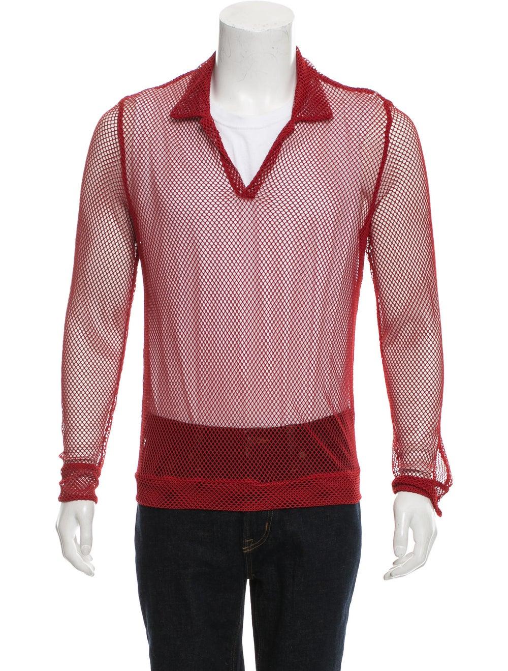 La Perla Long Sleeve Mesh Shirt red - image 1