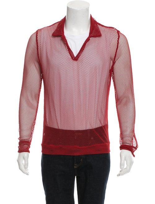 La Perla Long Sleeve Mesh Shirt red