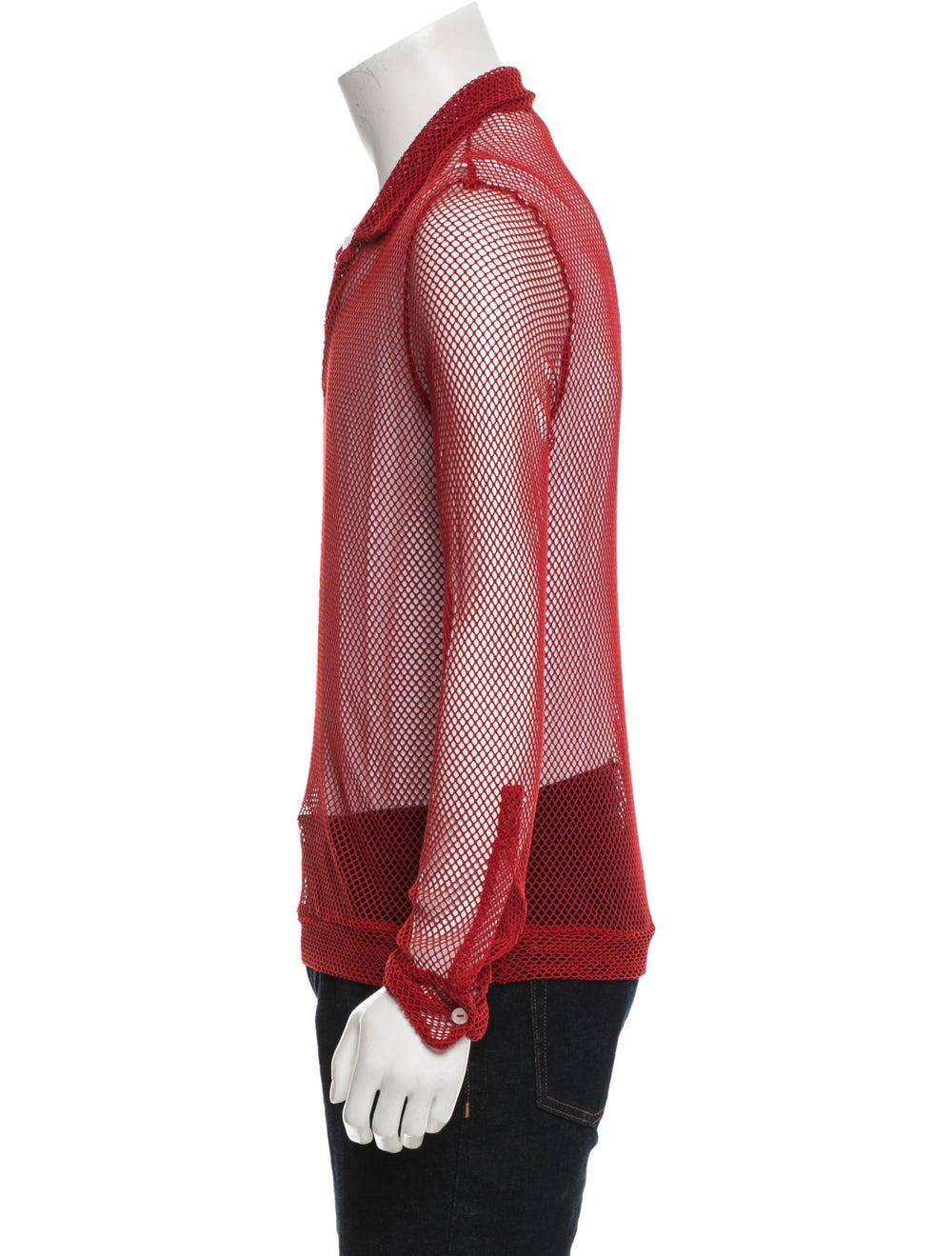 La Perla Long Sleeve Mesh Shirt red - image 2