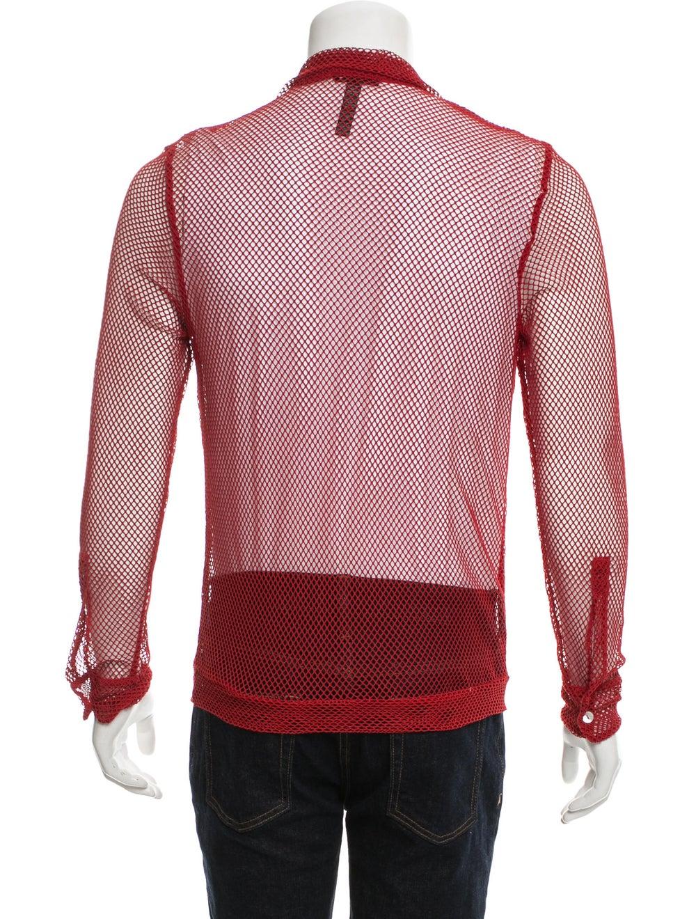 La Perla Long Sleeve Mesh Shirt red - image 3