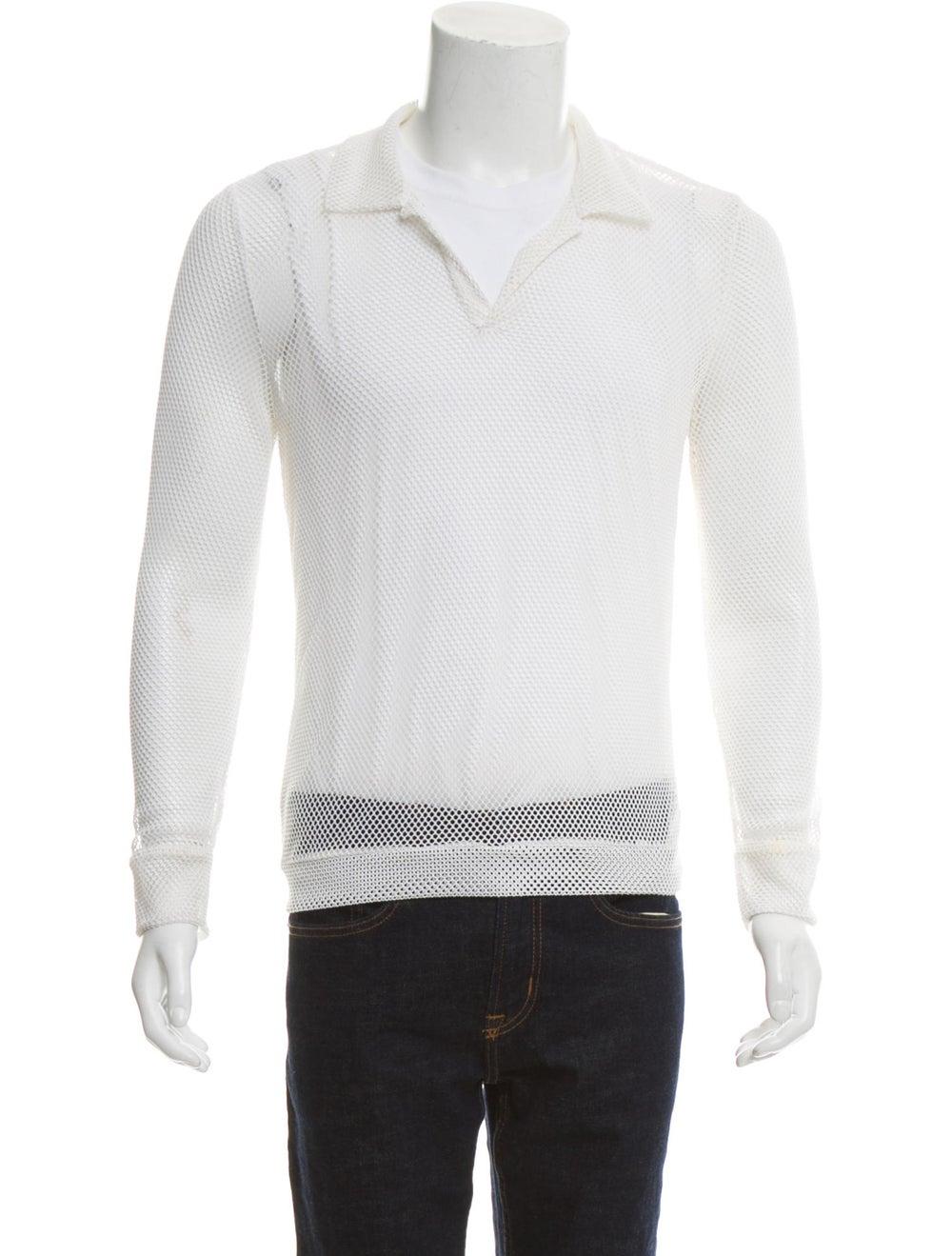 La Perla Long Sleeve Mesh Shirt white - image 1