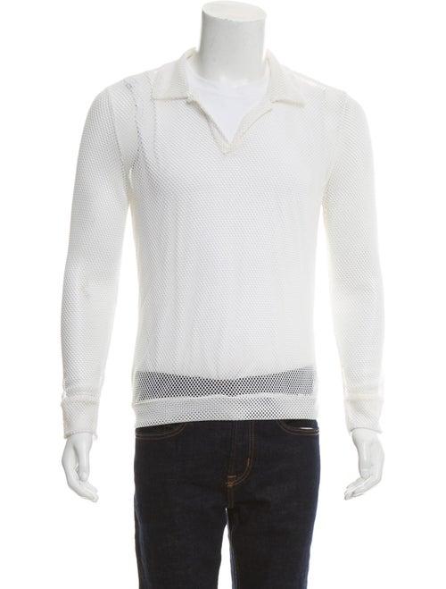 La Perla Long Sleeve Mesh Shirt white