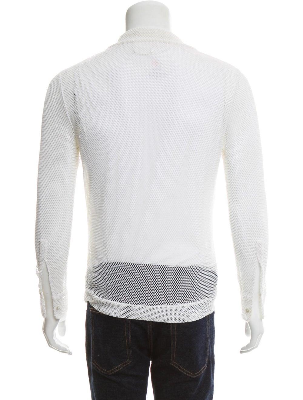 La Perla Long Sleeve Mesh Shirt white - image 3