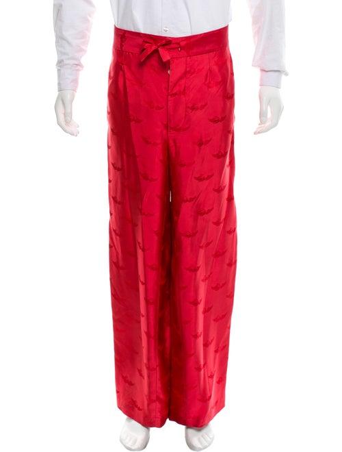 La Perla Silk Jacquard Lounge Pants red