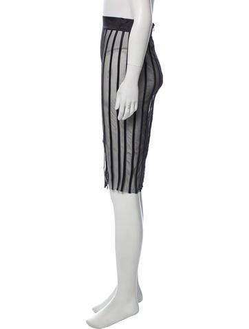 2504229f6c La Perla. Striped Sheer Skirt