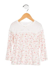 La Perla Girls' Floral Long Sleeve Top