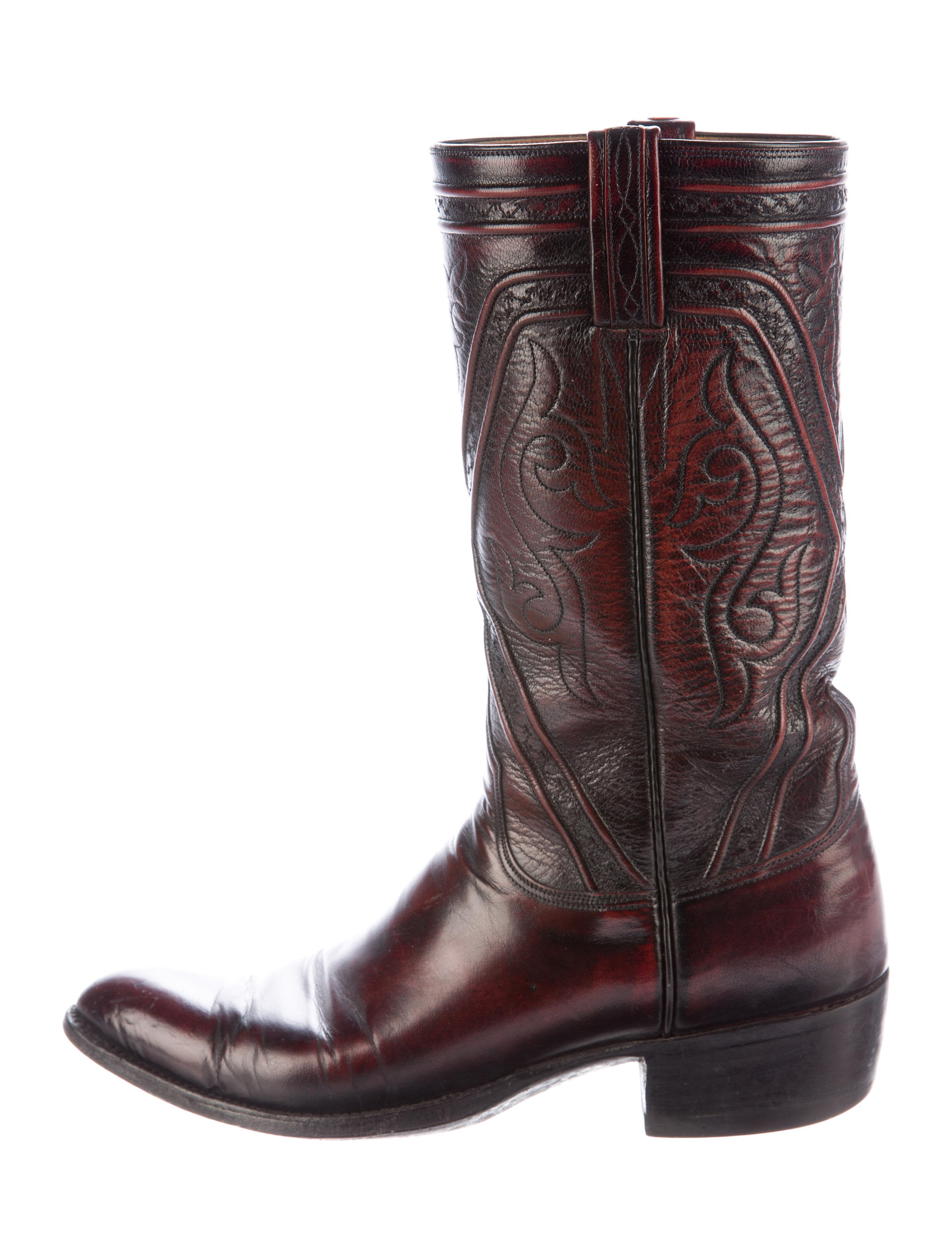 Lucchese Leather Cowboy Boots Shoes Lcc20027 The