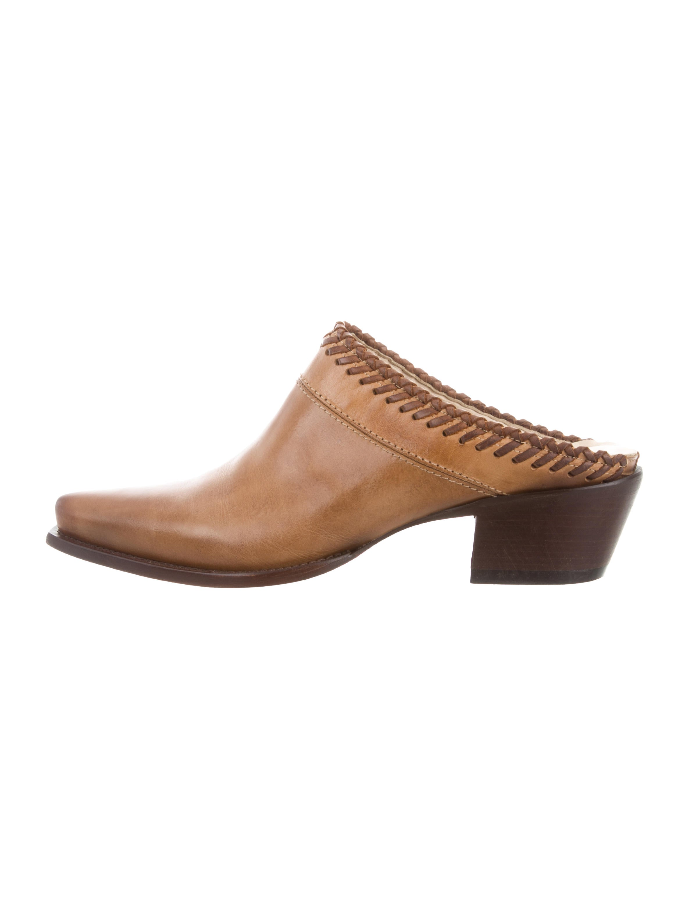 clearance low shipping Lucchese Leather Pointed-Toe Mules w/ Tags low cost cheap online best sale sale online limited edition cheap price 100% original online URelHWlv