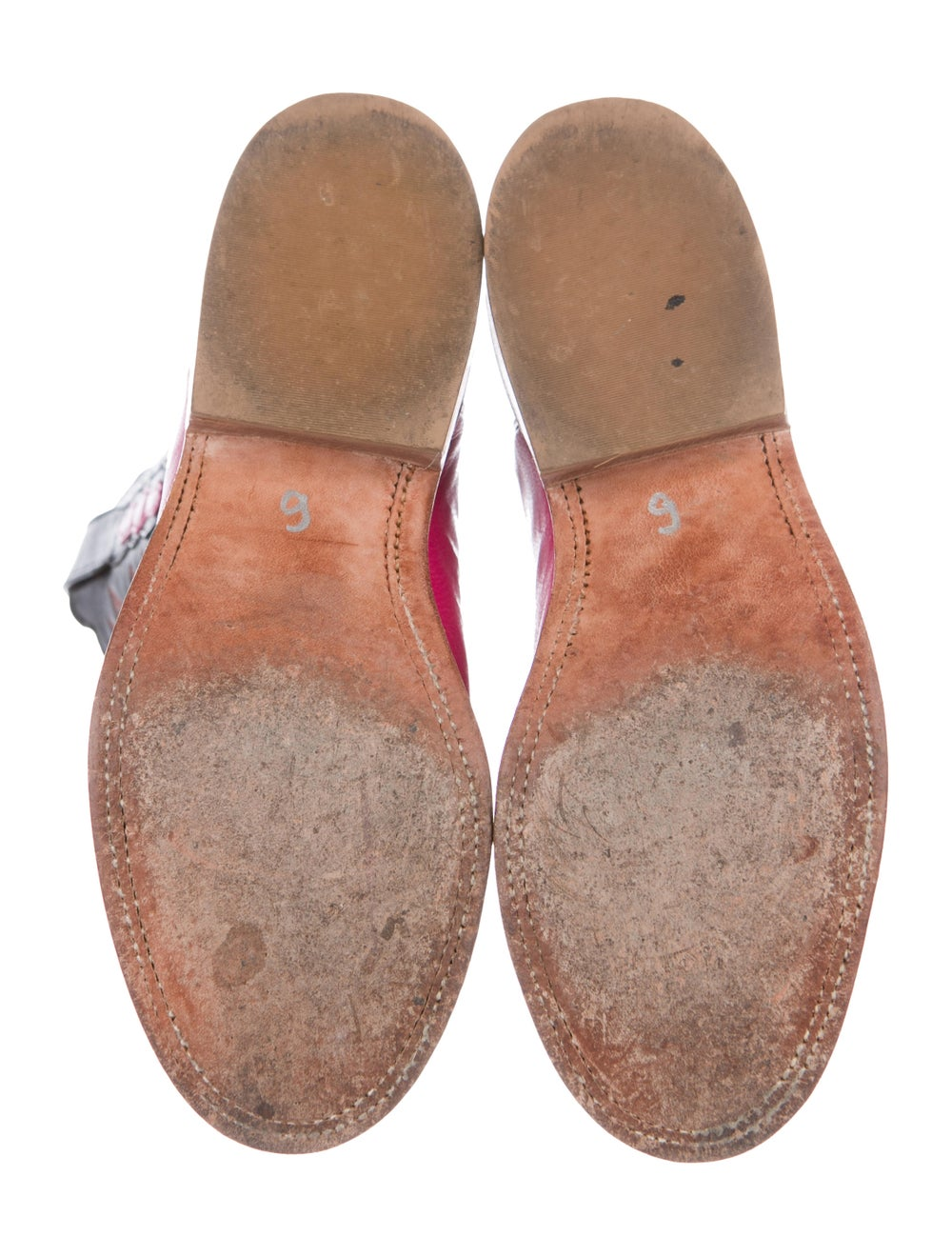 Lucchese Leather Cowboy Boots Pink - image 5