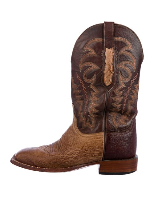 Lucchese Embroidered Leather Boots tan