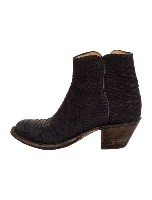 Lucchese Snakeskin Boots Black
