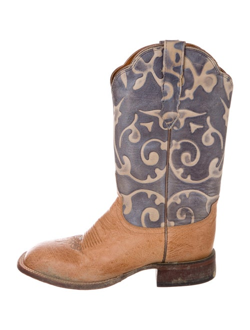 Lucchese Eel Skin Printed Western Boots